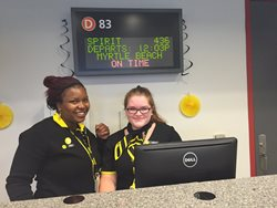 BLACK AND YELLOW TAKES FLIGHT OVER THE STEEL CITY: SPIRIT AIRLINES ARRIVES AT PIT