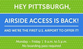 PIT IS FIRST IN COUNTRY TO ALLOW PUBLIC AIRSIDE ACCESS